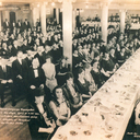 A fundraiser in 1921, in OLPH School. The fundraiser may have been toward building the upper church, which was completed in 1930.